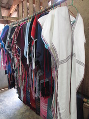 Traditional Karen hill tribe textiles - white is for single women, colours for married (eltpics) Tags: thailand eltpics doiinthanon nationalpark traditional karen hilltribe textiles cloth clothes fashion symbolism