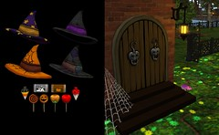 Candy Door Treats 2016 (Punkerella Summers) Tags: halloween secondlife sl attractions chimericarts chimericartsfashions masks pumpkinpatch
