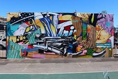 Coney Island - Coney Art Walls: POSE (wallyg) Tags: brooklyn coneyartwalls coneyisland kingscounty newyork newyorkcity ny nyc streetart pose mural
