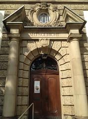 Sulzbach (micky the pixel) Tags: sulzbach gebude building tr door portal sule tympanum tympanon amtsgericht saarland deutschland germany architektur