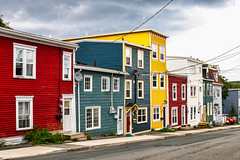 Jelly bean houses in st. john's (-liyen-) Tags: houses multicolored stjohns newfoundland city colourful urban jellybeanhouses canada eastcoast bright vibrant fujixt1 challengeyouwinner