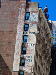 Hadson Realty, New York, NY (Robby Virus) Tags: newyork newyorkcity ny nyc city manhattan bigapple hadson realty real estate ghost sign ad advertisement wall brick stores offices