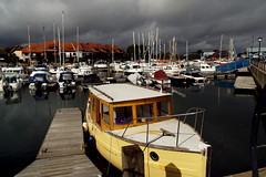 Here comes the Rain (Hythe Eye) Tags: hythemarina clouds storm boats southamptonwater hampshire