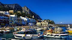 Capri (Miradortigre) Tags: capri marina azul colores mar sea isla island boats botes barcos