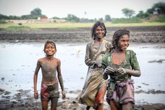 Happines in Mud water fishing! They took a smile stop whilei try to clik them !life at its full  vigour in  villages of Gujarat,INDIA.  Champaner-Pavagadh Archaeological Park  A concentration of largely unexcavated archaeological, historic and living cult