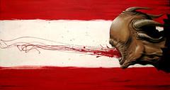 VOMITO acrilico 80 x 40 (emy mariani) Tags: art paint arte canvas horror pintura cuadros oscuridad