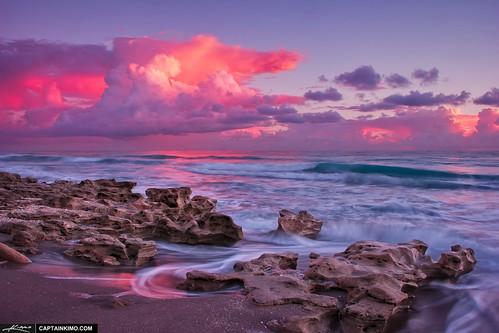 Pink-Velvet-Sunrise-Over-Carlin-Park-Beach-Jupiter-Florida