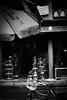 冒雨去买东西。。。 (Choollus) Tags: china november autumn bw rain bike shopping 50mm blackwhite necklace beads lluvia nikon market bokeh beijing mercado pioggia mercato bianconero cina raindrop chine 2012 collane panjiayuan pekin pechino nikond700 silverefex