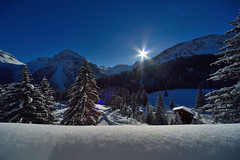 Winter in Arosa (Werner_B) Tags: blue schnee winter sky sun mountain snow alps cold nature berg sunrise landscape schweiz switzerland europe swiss natur berge covered alpen landschaft sonnenaufgang ferien arosa     turist       mountainalps