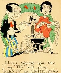 Christmas 1929 Ticker (Infrogmation) Tags: christmas 1920s cartoons 1929 stockmarket tickertape