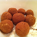 Chocolate and olive oil truffles