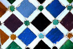 Alhambra, Granada (PM Kelly) Tags: espaa color colour tile spain palace andalucia strip alhambra moor