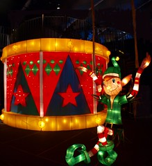 The Little Drummer Elf! (Phyllis74) Tags: christmas holiday festive lights drum christmaslights elf christmasdisplay kalightoscope christmasatthegalthouse