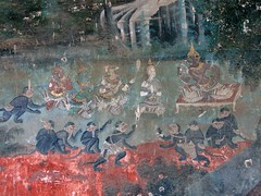 Cambodia (Juni 12) (Syydehaas) Tags: elephant temple boot gold pagoda konzentrationslager asia asien cambodia kambodscha southeastasia sdostasien vishnu khmer native buddha boote hanuman tuktuk phnompenh tribe elefant mekong cultural royalpalace pavillon brahma indochine tempel naga overland indochina cambodja chedi pagode ramayana mnch watphnom khmerrouge malerei buddhismus lakshmana napoleoniii wandgemlde thronsaal abenteuer sihanouk knigspalast psarchas reamker sihamoni norodom smaragdbuddha silberpagode highflyer261 syydehaas kumerrouge watbunnalom chroychungvabrcke