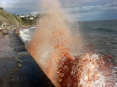 Teignmouth Muddy Waves South Devon (Bridgemarker Tim) Tags: waves redsea railways teignmouth holcombe landslip southdevon