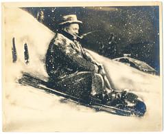 Studio Composite Portrait: The King Of The Hill, Smoking (mrwaterslide) Tags: composite studio pipe downhill smoking sledding sled merrychristmas toboggan studiophotograph