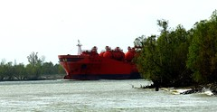 Around the Bend (Tom Pumphret) Tags: louisiana mississippiriver import vessels tankers export englishturn bowsun