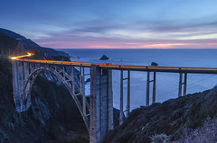 One always wonders about roads not taken... (FerPecT_sHotz) Tags: sunset 1932 monterey bigsur carmel bixbybridge sceniccoast openspandrelarchbridge vigilantphotographersunite vpu2