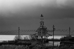 Day #1823 (cazphoto.co.uk) Tags: monochrome architecture clouds mono kent prom bleak bandstand broadstairs wintry project366 271212 canonpowershotg12 beyond1461