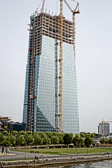 New ECB building in Frankfurt (Liseykin) Tags: frankfurt skytower ecb europeancentralbank officetowers newpremises