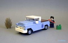 1955 Chevy Pickup Stepside 01 (_lichtblau_) Tags: chevrolet design force lego chevy 50s task 3100 moc stepside
