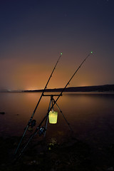 Moonfish (Orso Grisbi) Tags: light star fishing long time flash croatia pesca croazia rovigno rovinj pescare