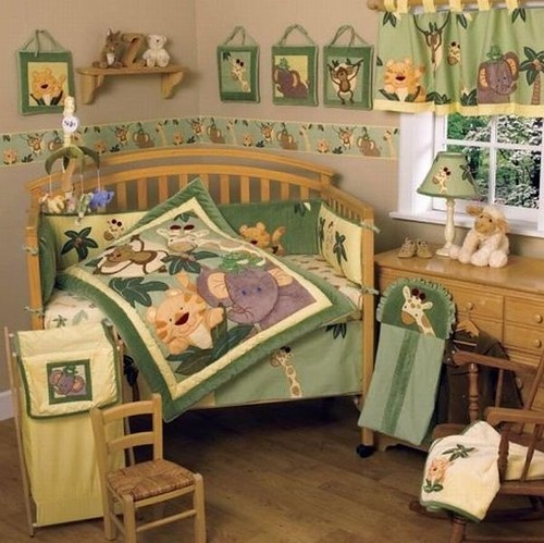 Jungle-themed-Babies-bedding-to-add-unique-character-to-your-kids-bedroom