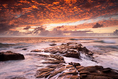 we live in beautiful world (Luke Tscharke) Tags: longexposure seascape water sunrise geotagged movement rocks australia stunning queensland pointarkwright geo:lat=2654652925103396 geo:lon=15310284823179245