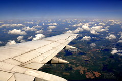 To St. Louis (loganpfister) Tags: blue sky st clouds plane louis flying earth air ground nikond90