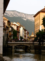 Looming Alps (K.G.Hawes) Tags: mountain france mountains alps annecy water french town canal dusk creative commons canals cc creativecommons alp