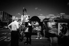 Newtown, Sydney, NSW. Ilford Pan F in Perceptol 1:1 (Simon Hampton) Tags: street leica longexposure blackandwhite blur film contrast analog 35mm sydney streetphotography australia monochromatic nsw 50 newtown ilfordpanf homedeveloped perceptol neutraldensityfilter nd8 homescanned simonhampton plustek7600ai voigtlander28mmf2lens