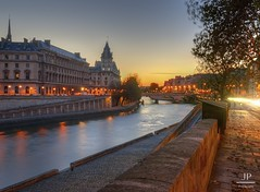 Quai des Orfvres V2 (J.P | Photography) Tags: life sea wallpaper sky sun paris france seine sunrise french photography nikon police ps ciel jp pj quai hdr parisian hdri 1024 parisienne quaideseine parisien cs6 leverdusoleil quaidesorfvres orfvres jpphotography d7000