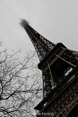 "Eiffel Tower ""Misty Sky"" Paris (Tamara de Koning) Tags: eiffeltower eiffel paris parijs mist misty sky eiffeltoren france smog tamaradekoning travel trip photography europe europa"