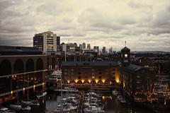 Ivory House, St Katharine Dock's. (klythawk) Tags: london landscape boats december olympus panasonic 20mm yachts greysky omd towerhill stkatharinedocks em5 ivoryhouse klythawk