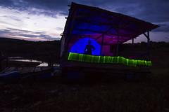 Old platform (GabrielPinguim) Tags: old pink blue light sky woman green art gabriel nature river painting exposure platform arc led pinguim