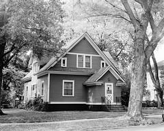 Mom's House (Ian Vecchiotti) Tags: bw house tree art film home minnesota rural ian photography town photo small neighborhood medium format mn foley 120mm blackwhitephotos vecchiotti