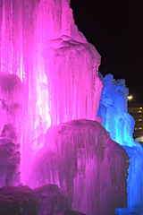 MOA Ice Castle (Liz Nemmers) Tags: pink blue winter red cold green ice water colors minnesota colorful purple january minneapolis mallofamerica moa twincities bloomington icecastle 2013