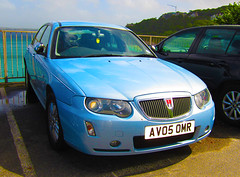 2005 ROVER 75 CONNOISSEUR SE CDTI 96 (FACELIFT) (Yugo Lada) Tags: 2005 blue se nice cornwall rover vehicle parked 75 rare 96 connoisseur facelift newish cdti av05omr