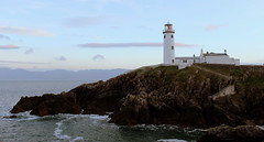 Fanad Head Lighthouse (eddieELM) Tags: ireland winter light sunset sea irish lighthouse water rock canon eos naturallight donegal ulster fanad 600d 2013 irishlight canoneos600d
