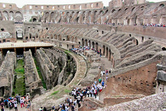 So Much History (Jocey K) Tags: people italy rome building stone architecture fence design rocks bricks amphitheatre arches colosseum walkway coliseum crowds cosmostour6330