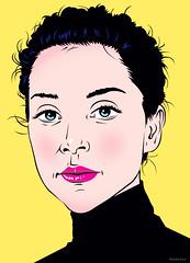 winter (Schabrazze aka Peekasso) Tags: portrait illustration design graphic pixel vector fecalface quickhoney peekasso