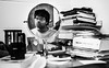 Day 7: Mirror mirror, do you have answers to my questions? (PrashantKr) Tags: bw white black reflection table mirror blackwhite student mess books teenager stevejobs 365 contemplate confusion teenage discover studytable