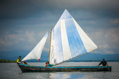 Sailing in San Blas, Panama (Alex E. Proimos) Tags: storm islands boat fishing san sailing panama islas blas panamanias