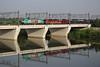 Ricordi d'estate.......... (Maurizio Zanella) Tags: bridge river italia fiume trains ponte zeus railways aw alessandria treni ferrovie autoslaaptrein tanaro eetc e483006 gtsrail arenaways