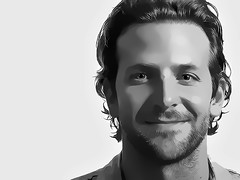 Bradley Cooper Digital Art Portrait (David Alexander Elder) Tags: portrait white black silver golden oscar globe bradley cooper actor celeb linings playbook