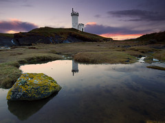 The Lighthouse (been snapping) Tags: uk sunset lighthouse seascape reflection beach water canon reflections landscape coast scotland mar seaside fife sigma coastal 7d elie schottland ecosse eastneuk fifecoastalwalk escosia