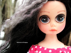 Romantic girl (mademoiselleblythe) Tags: black cindy alpaca eyes sad susie custom reroot sowers romatism