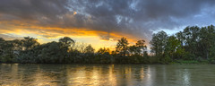 Reuss IV (Daniel J. Mueller) Tags: trees sunset water clouds forest river landscape schweiz switzerland wasser sonnenuntergang wolken fluss landschaft wald bume hdr reuss rickenbach kantonzrich cantonofzurich ottenbach d800e