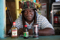Jamaica-TimeNPlace-6176 (alison.toon) Tags: sea copyright man beach water beautiful hat smiling dreadlocks happy photographer secret tony hidden jamaica dreads jamaican falmouth tranquil trelawny turquose timenplace alisontoon