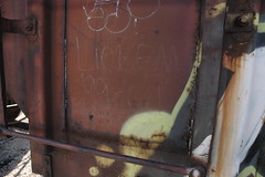 lickem (bearded wagon) Tags: west art train bench bars steel south az oil boxcar hobo freight trackside streakers railbox monikers moniker meanstreaks benched 2213 benchers